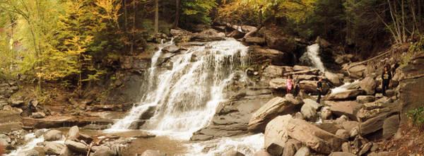 Tourists At Kaaterskill Falls, Catskill Poster