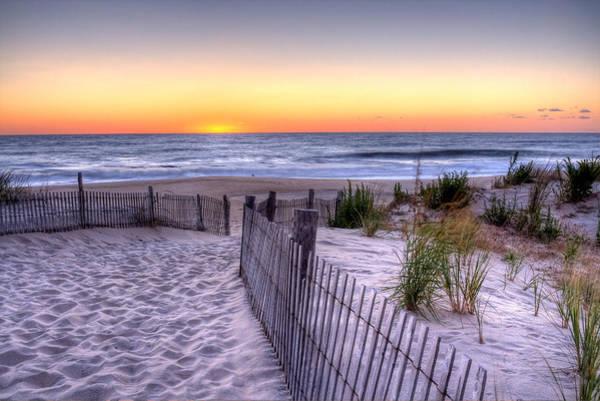 Tower Beach Sunrise Poster