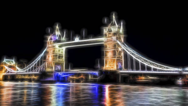 Tower Bridge Abstract Poster