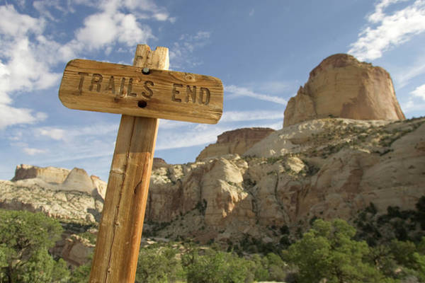 Trails End Sign At Capitol Reef Poster