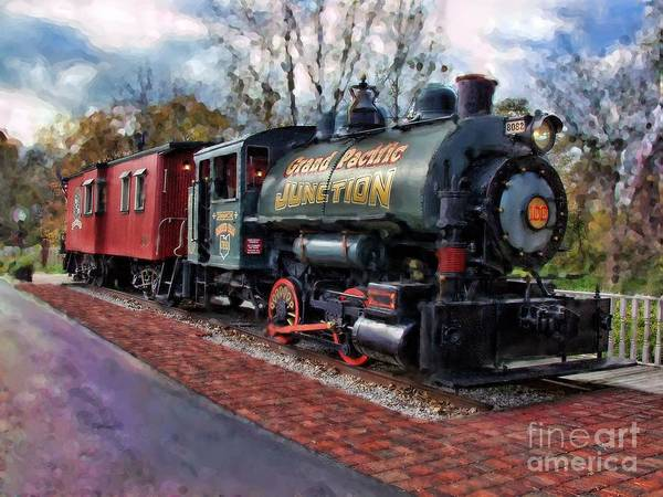 Train At Olmsted Falls - 1 Poster