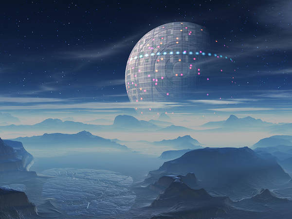 Tranus Alien Planet With Satellite Poster