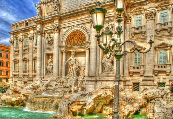 Trevi Fountain In Rome Poster