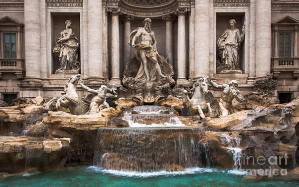 Poster featuring the photograph Trevi Fountain by John Wadleigh