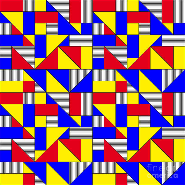 Triangles And Squares Geometrical Poster