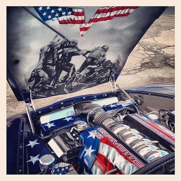Tribute #corvette To All Veterans #usa Poster