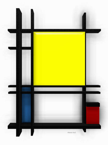 tribute to Mondrian 1 Poster