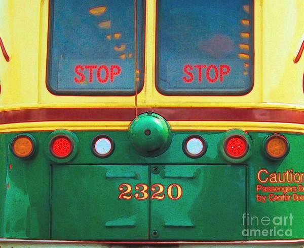 Trolley Car - Digital Art Poster