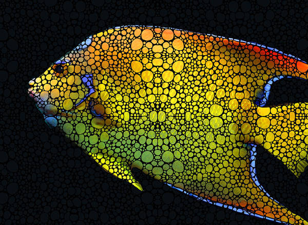 Tropical Fish 12 - Abstract Art By Sharon Cummings Poster