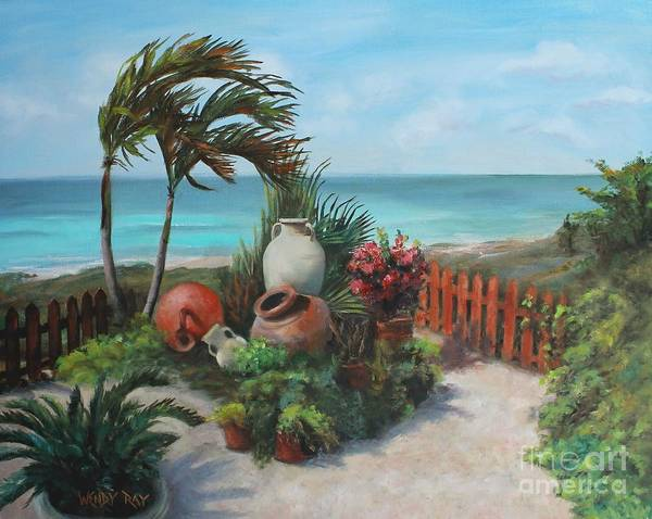 Poster featuring the painting Tropical Paradise by Wendy Ray
