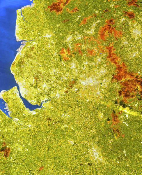 True-colour Satellite Image Of North-west England Poster