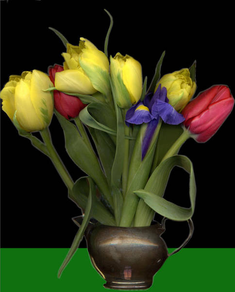 Tulips In Pewter Vase Poster