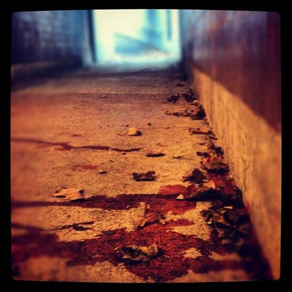 #tunnel #blood #stain #stains #stained Poster