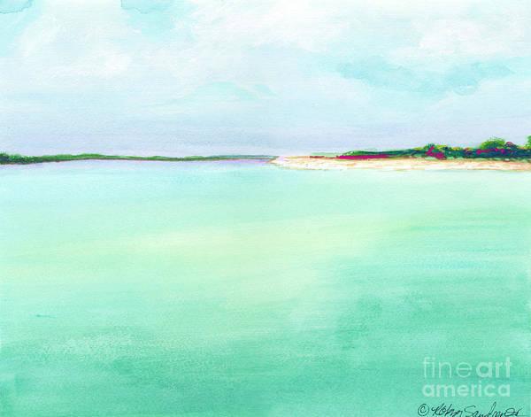 Turquoise Caribbean Beach Horizontal Poster
