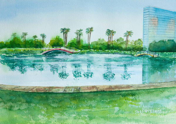 Two Bridges At Rainbow Lagoon Poster