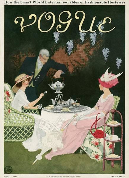 Two Women Drinking Tea Poster