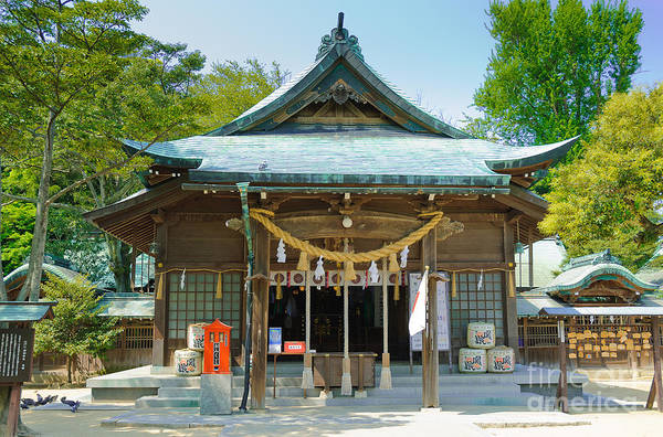 Typical Japanese Shinto Shrine Entrance Poster