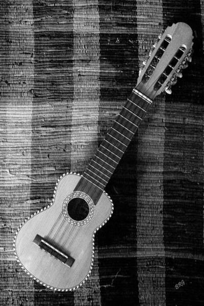 Ukulele Still Life In Black And White Poster