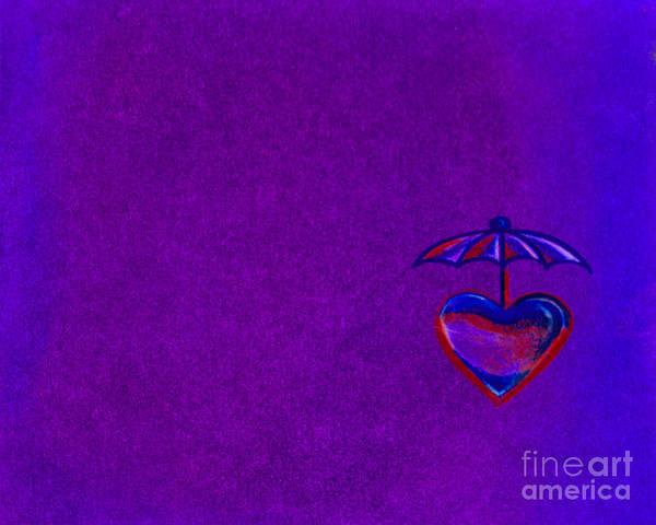Umbrella Heart Poster