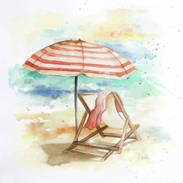 Umbrella On The Beach II Poster