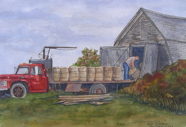 Unloading At The Potato House Poster