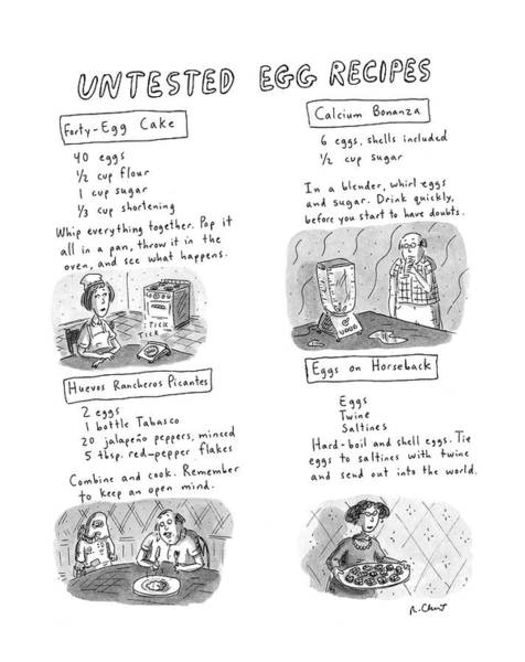 Untested Egg Recipes Poster