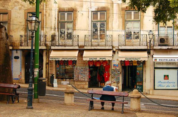 Lisbon Street Scene Poster