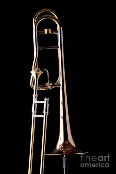 Upright Rotor Tenor Trombone On Black In Color 3465.02 Poster