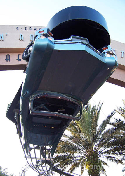 Upside Down Car Poster