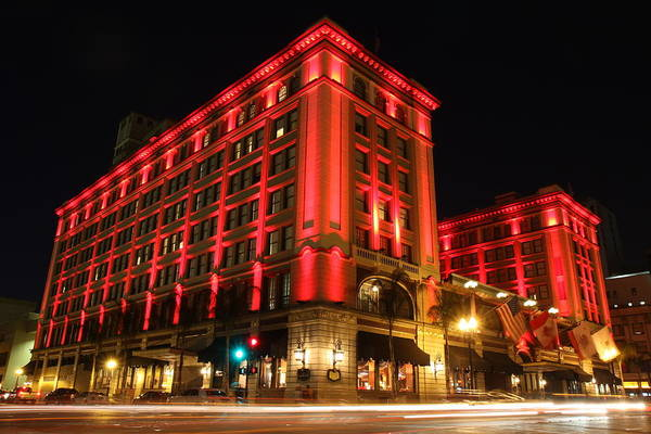 Us Grant Hotel In Red Poster