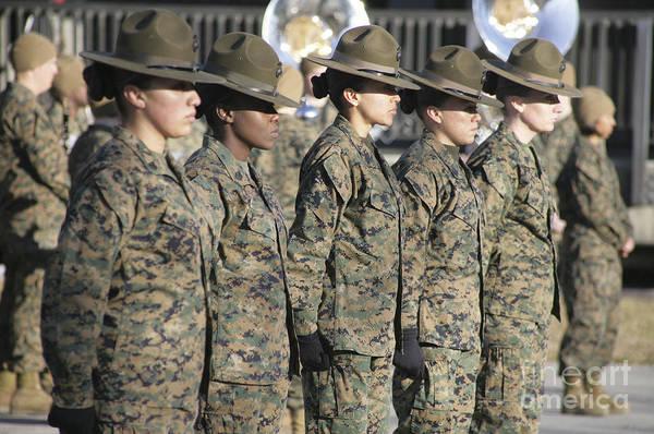 U.s. Marine Corps Female Drill Poster