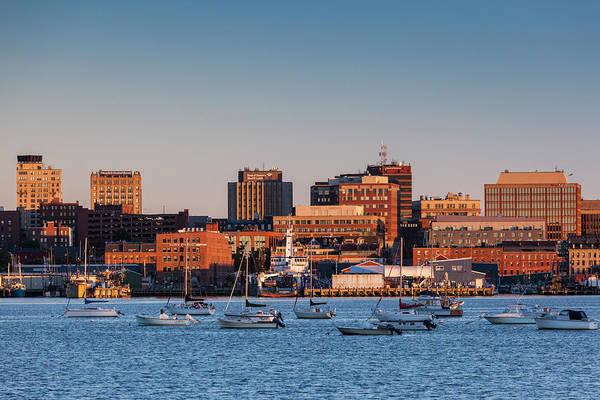 Usa, Maine, Skyline From South Portland Poster