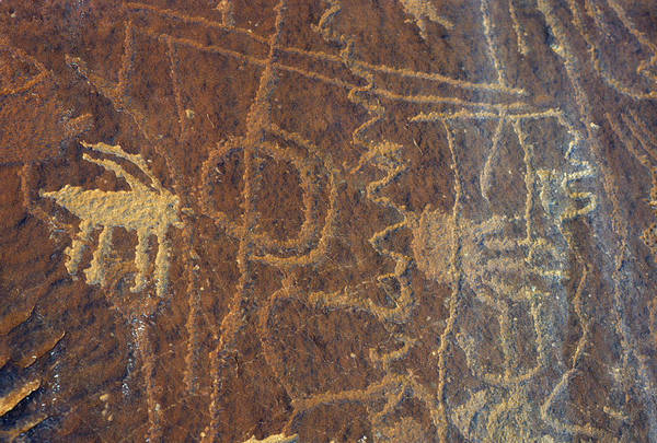Usa, Utah, Petroglyphs, Sandstone Poster