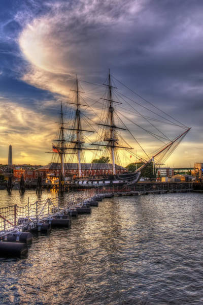 Uss Constitution Sunset - Boston Poster