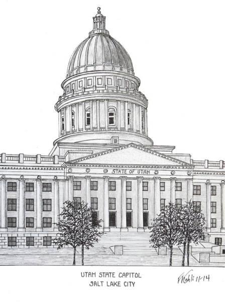 Utah State Capitol Poster