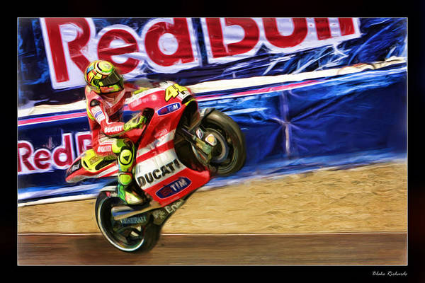 Valentino Rossi Ducati Poster