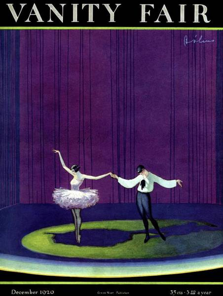 Vanity Fair Cover Featuring A Masked Male Dancer Poster