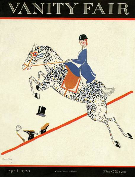 Vanity Fair Cover Featuring A Woman On A Horse Poster