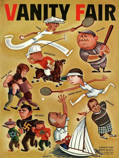 Vanity Fair Cover Featuring Caricatures Poster