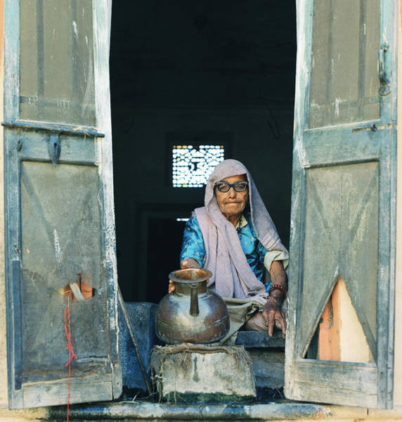 Varanasi Water Seller Poster