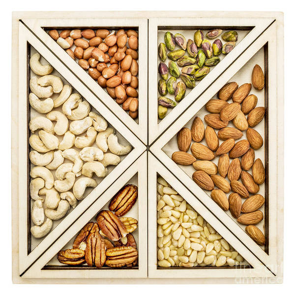 Variety Of Nuts Abstract Poster
