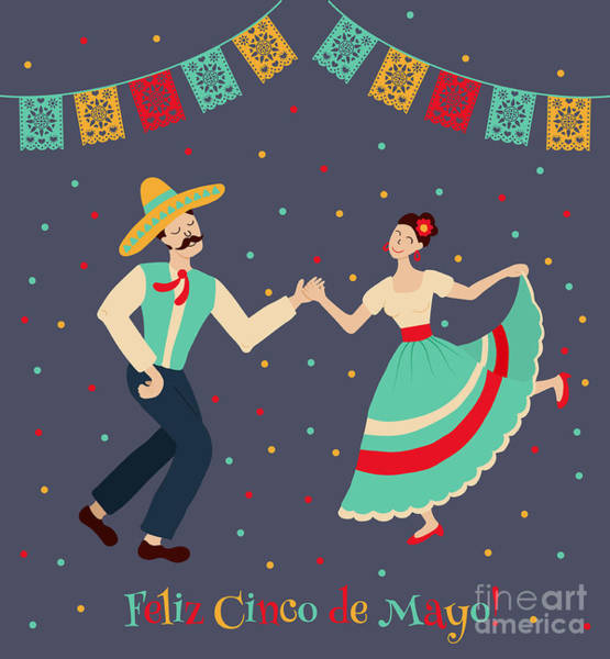 Vector Illustration Of Happy Dancing Poster