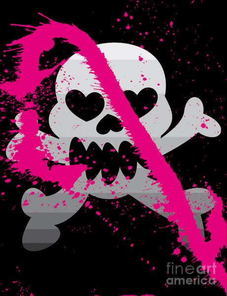 Vector Illustration Of Skull Poster