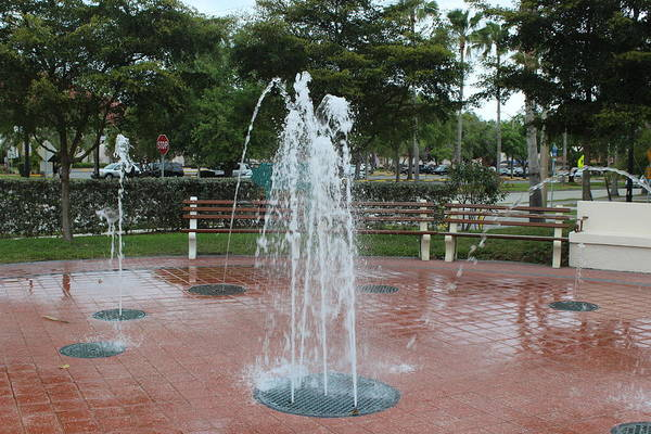 Venice Florida Fountain Poster