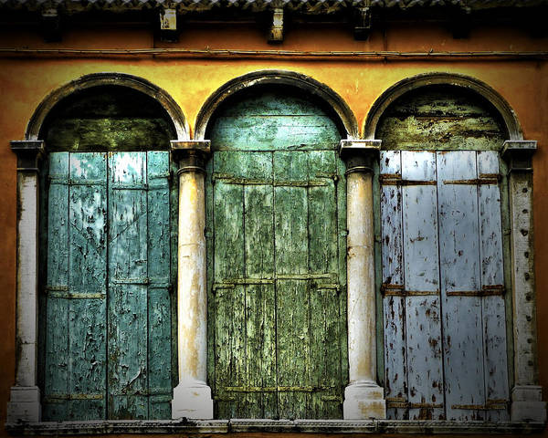 Poster featuring the photograph Venice Italy 3 Doors by Gigi Ebert