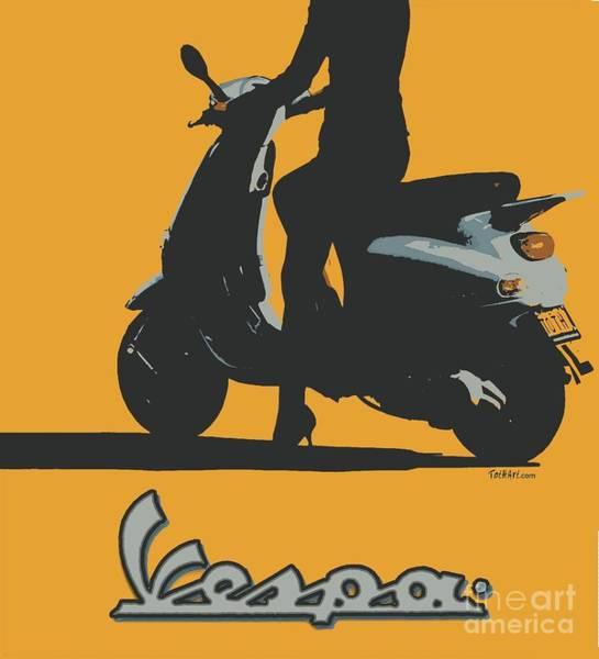 Vespa Girl Poster