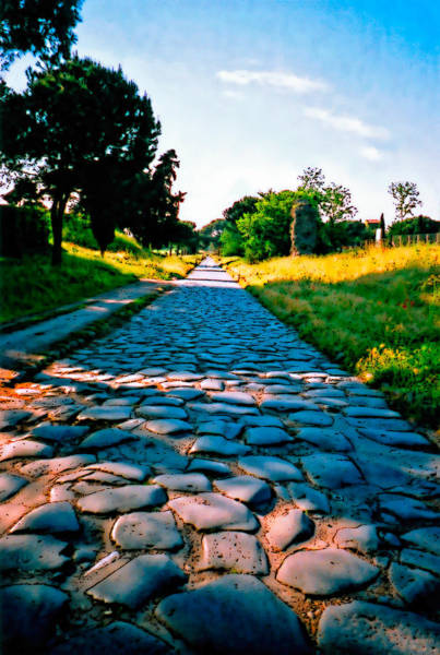 Poster featuring the photograph Via Appia Antica - Rome by Donna Proctor
