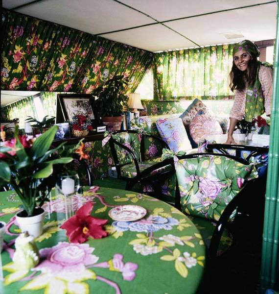 Victoria Van Gerbig On Her Houseboat Poster