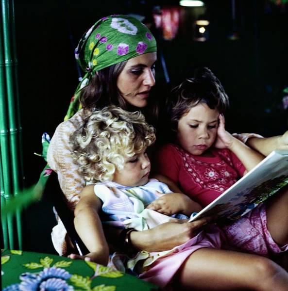 Victoria Van Gerbig With Her Children Poster