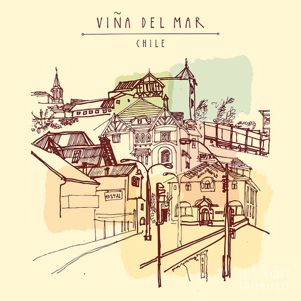 Victorian Style Architecture In Vina Poster